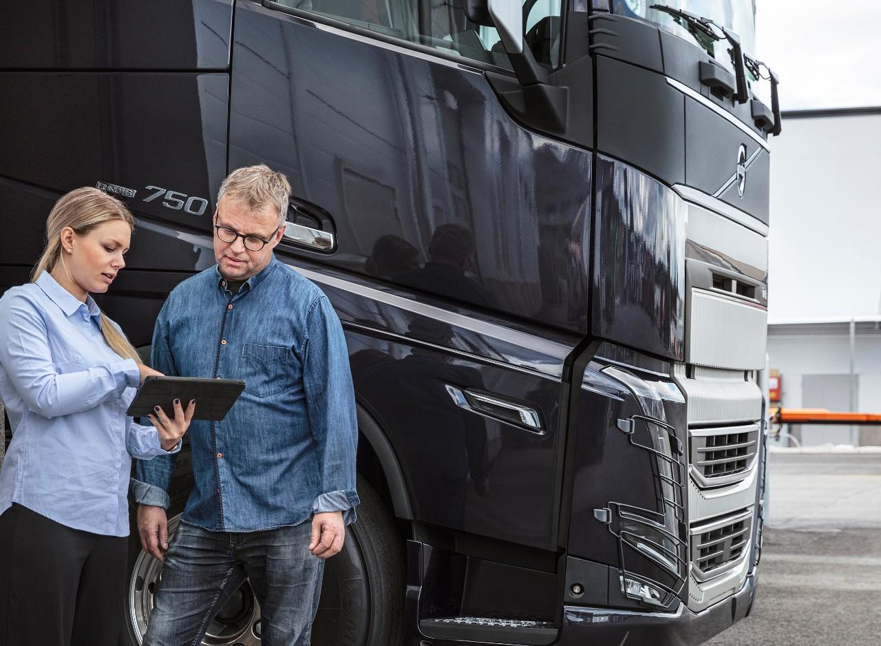 Работење со Volvo Connect на лаптоп.